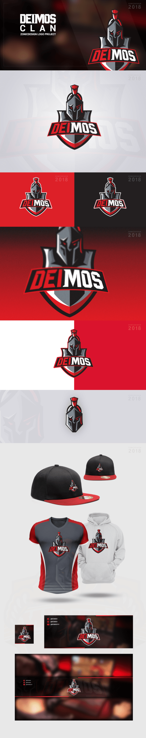 Spartan Mascot Clan Logo - Vector - Avatar, Youtube Banner, Facebook Banner, Logo, Icon - (BUNDLE) Preview