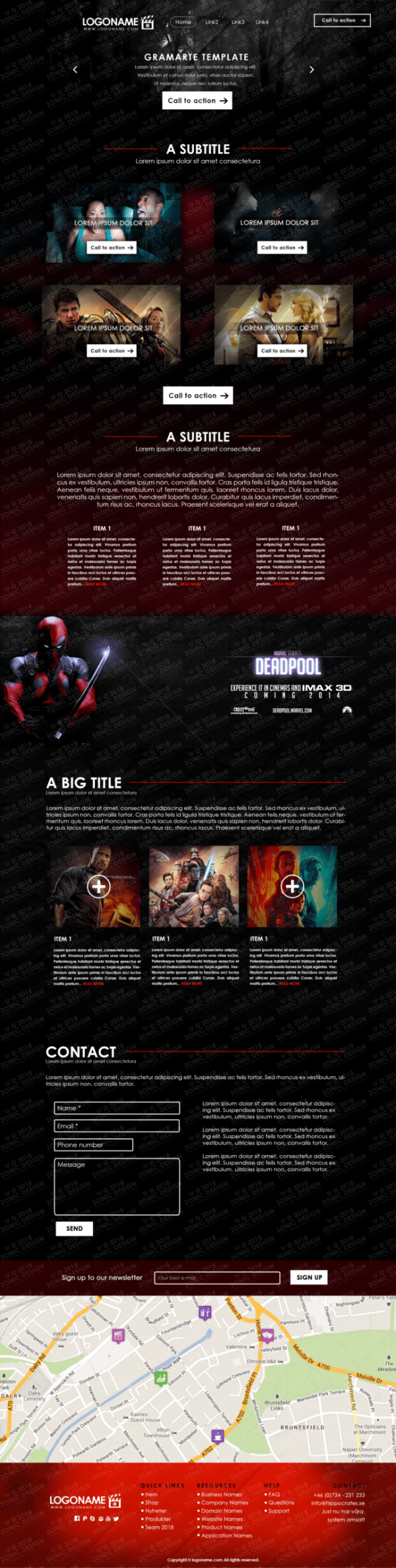Movie Template - RedShadow Preview