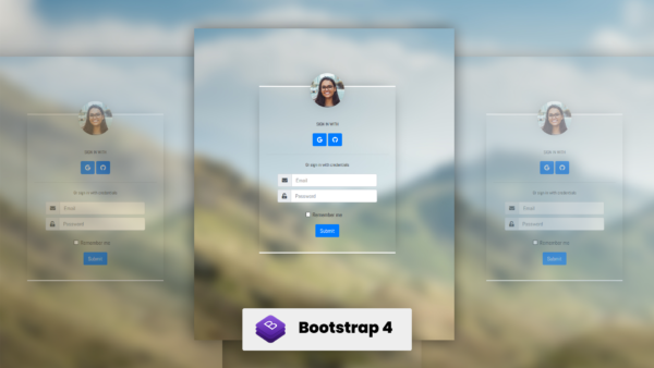 Login Form v1.0 by Zonic Design - Boostrap, HTML, CSS